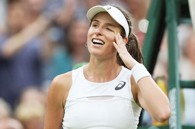 Johanna Konta became the first British woman to reach the last four in almost 40 years when she beat Romanian Simona Halep on Tuesday