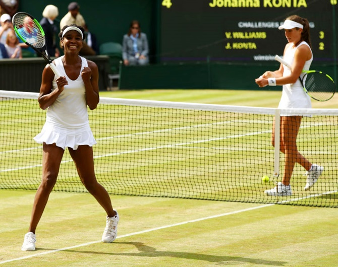 Venus eclipses Konta to reach Wimbledon final
