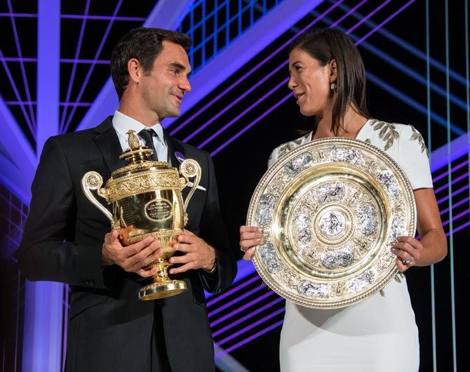 PHOTOS: Federer, Muguruza sizzle at Wimbledon Champions' Dinner
