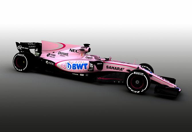 Mallya's Force India go pink for 2017 F1 season