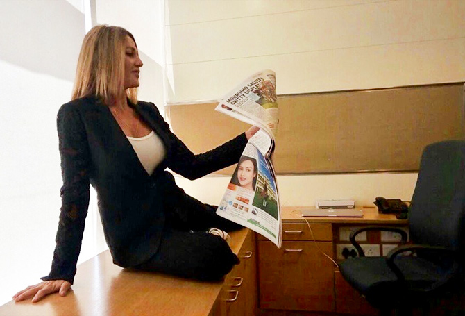 Nadia Comaneci guest edits an edition of the Times of India