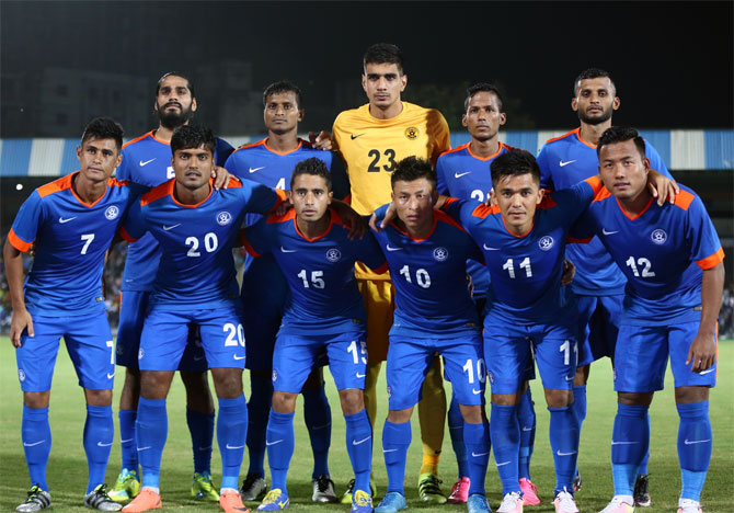 The Indian football team, known as the 'Blue Tigers', are currently ranked 14th in Asia, after a string of good performances in international matches of late.