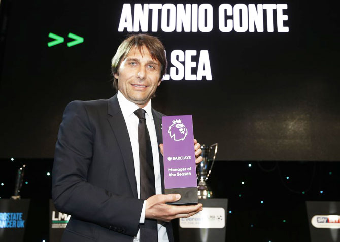 Sports shorts: Chelsea's Conte named Manager of the Year