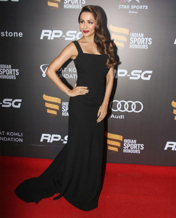 Malaika Arora lit the red carpet on fire with this sexy black number and those kohl eyes