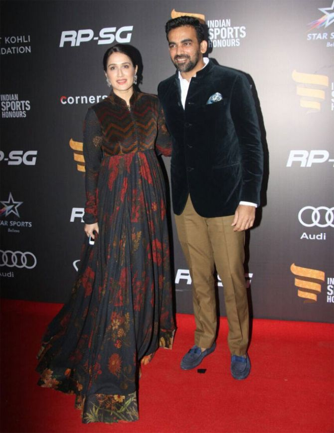 Former India pacer Zaheer Khan and fiancee Sagarika Ghatge