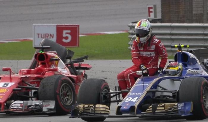 Bizarre Crash! Vettel blames Stroll