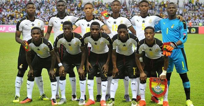 The Under-17 Ghana team
