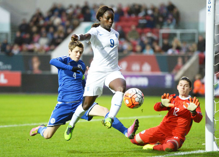 England's Eniola Aluko in action