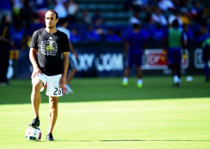 Forme US star soccer player Landon Donovan