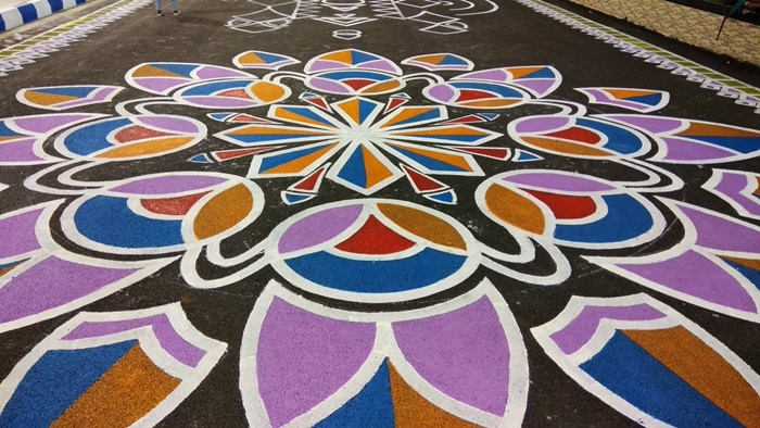 PHOTOS: Salt Lake Stadium to welcome teams with Rangoli