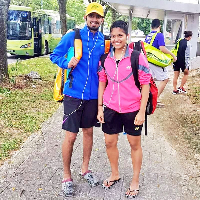 K Nandagopal and Mahima Aggarwal combined to win the mixed doubles event at the Kharkiv International badminton tournament in Ukraine on Sunday