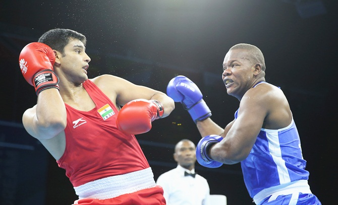 Tanwar, Phangal in CWG boxing quarters