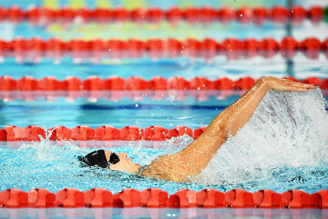 New Zealand's Sophie Pascoe competes during the women's SM10 200m individual medley final at Optus Aquatic Centre