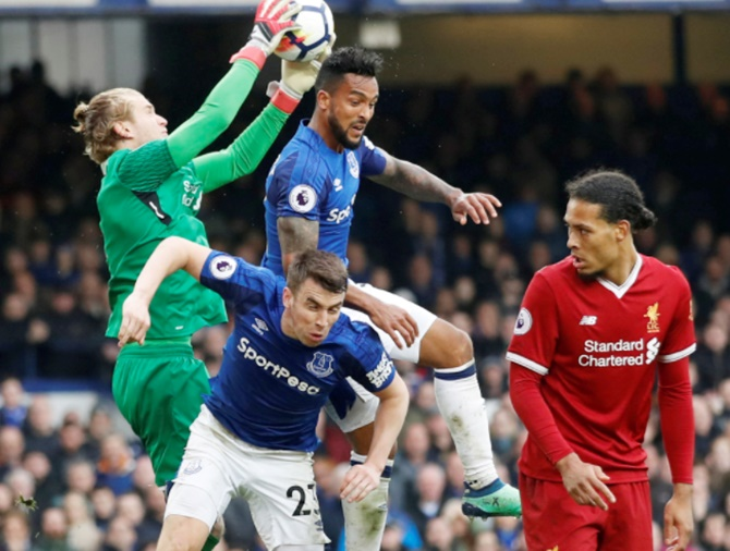 EPL: Liverpool hold off late Everton pressure in goalless derby