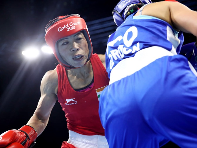 Mary Kom assured of medal, Vikas enters quarters at CWG