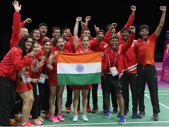India claim maiden CWG badminton mixed team gold