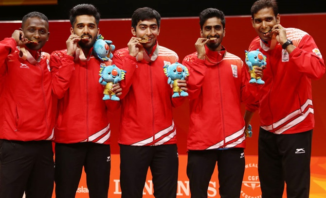 India seal second table tennis gold