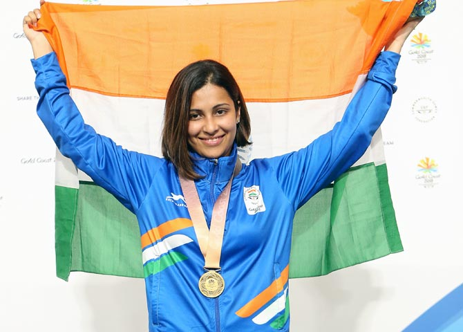 Sidhu smashes CWG record for India's third shooting gold