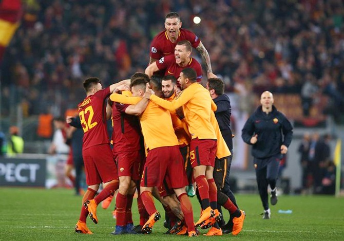 AS Roma players celebrate a goal (Image used for representational purposes)