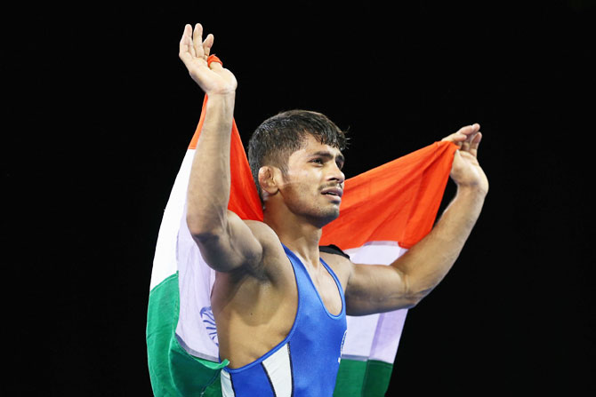 CWG: Grapplers Sushil, Aware strike gold, Babita takes silver