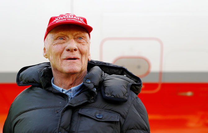 Niki Lauda was hospitalised in January for about 10 days while suffering from influenza and had a lung transplant last August