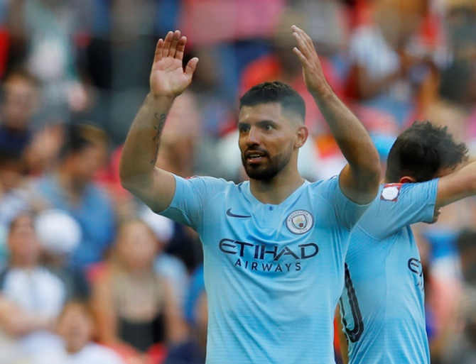 Aguero hits 200th City goal as Guardiola's side stroll past Chelsea