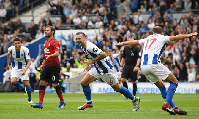 EPL PHOTOS: Manchester United STUNNED by Brighton