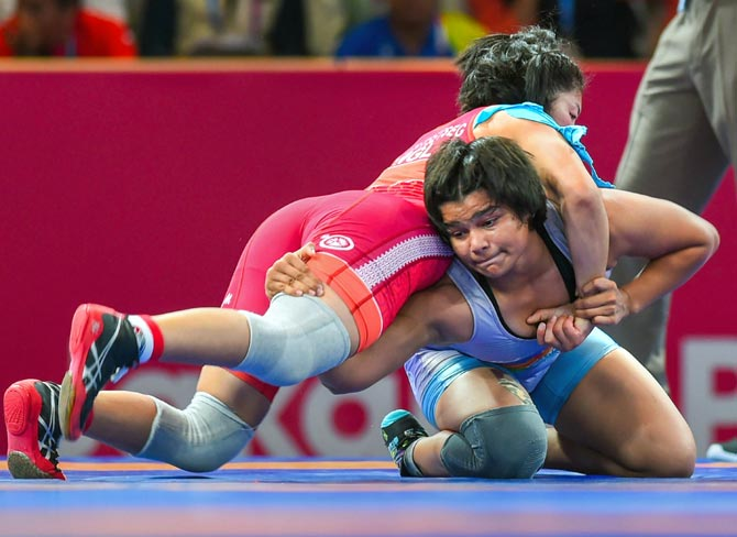 Asian Wrestling: Divya humbles junior world champion