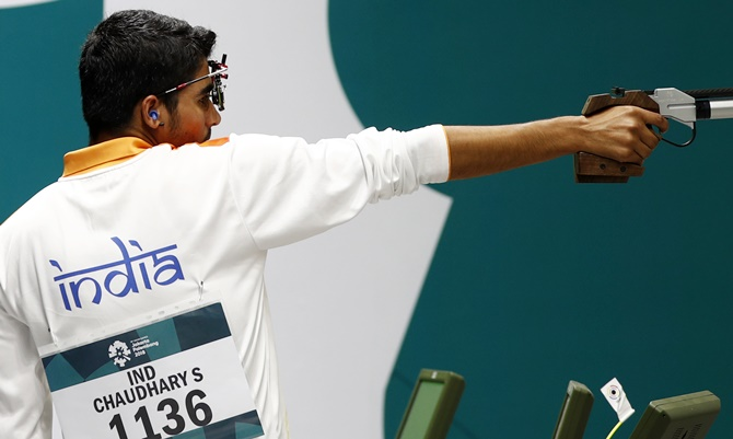 Was not thinking about a record or Olympic quota: Chaudhary