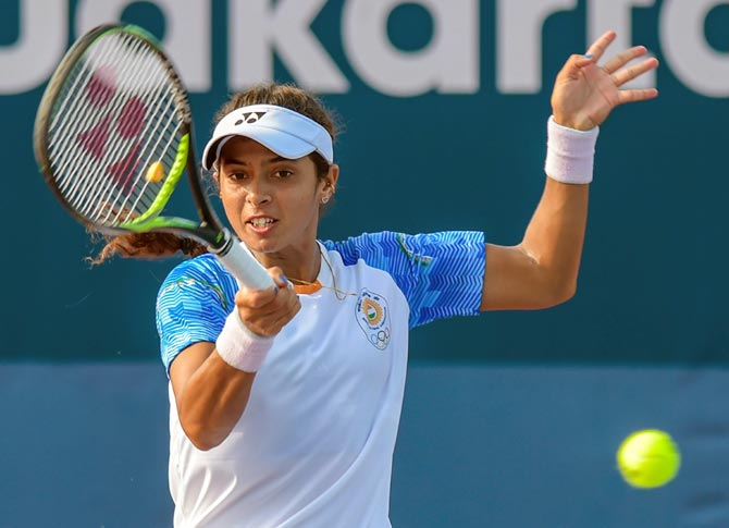 Ankita Raina was beaten by China's World No. 34 Shuai Zhang in the semi-finals of the tennis event at the Asian Games to win bronze