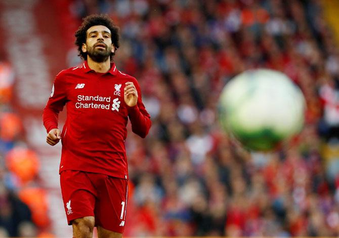 EPL: Salah strike sinks Brighton and sends Liverpool top