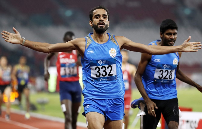 When two Indians won gold and silver in 800m