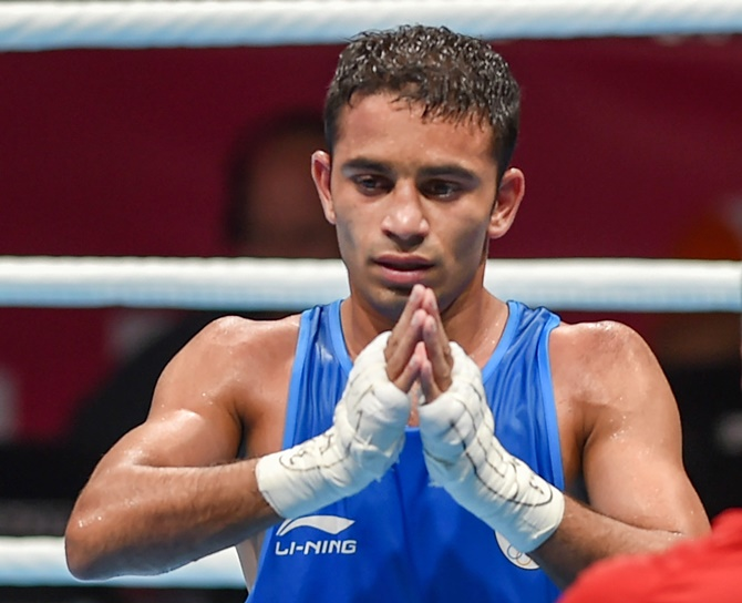 Panghal demolishes Olympic champ for Asian Games gold