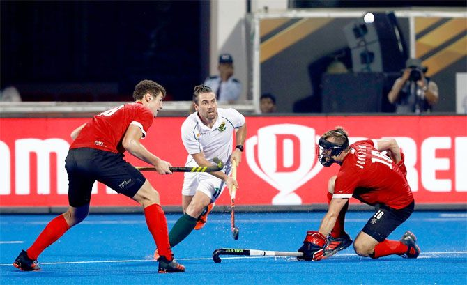 The match between Canada and South Africa was an evenly contested match