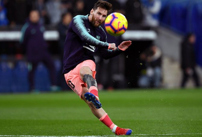 Lionel Messi has been sidelined by a calf injury