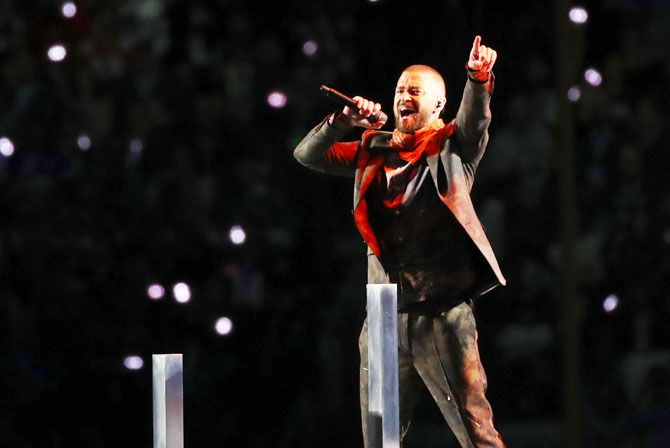 Justin Timberlake performs during the Pepsi Super Bowl LII Halftime Show