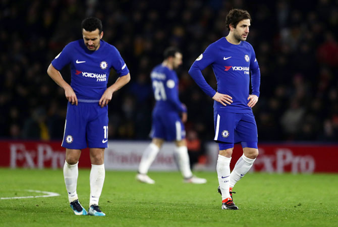 EPL PHOTOS: Watford late show sinks 10-man Chelsea