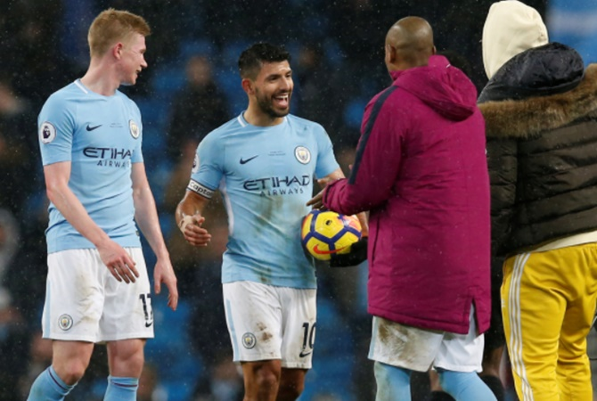 EPL: Aguero, De Bruyne lift City to new heights
