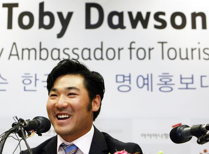 South Korea's Mogul ski coach Toby Dawson was adopted by US ski couple at the age of three
