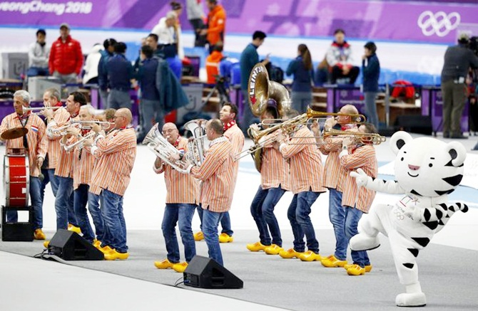 Dutch band Kleintje Pils at the Winter Olympics
