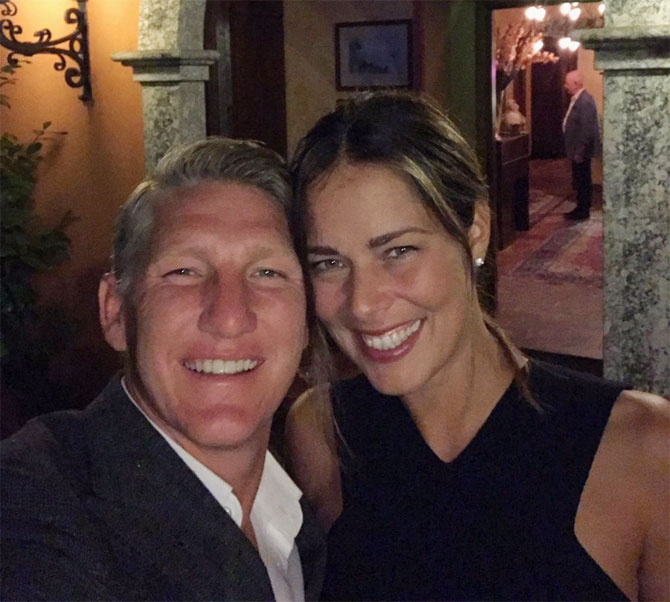 Former Germany footballer Bastian Schweinsteiger and girlfriend Ana Ivanovic