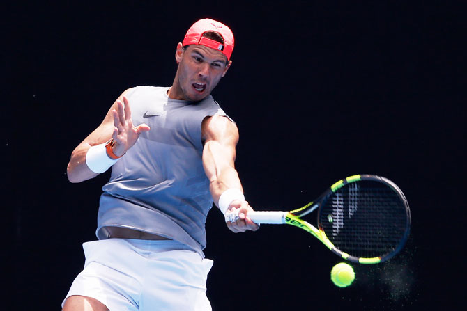 Rafael Nadal had surgery on his ankle in November to remove a loose intra-articular body and only resumed training a month ago.
