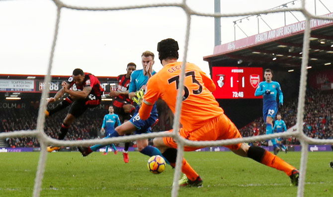 EPL PHOTOS: Bournemouth rally to beat lacklustre Arsenal