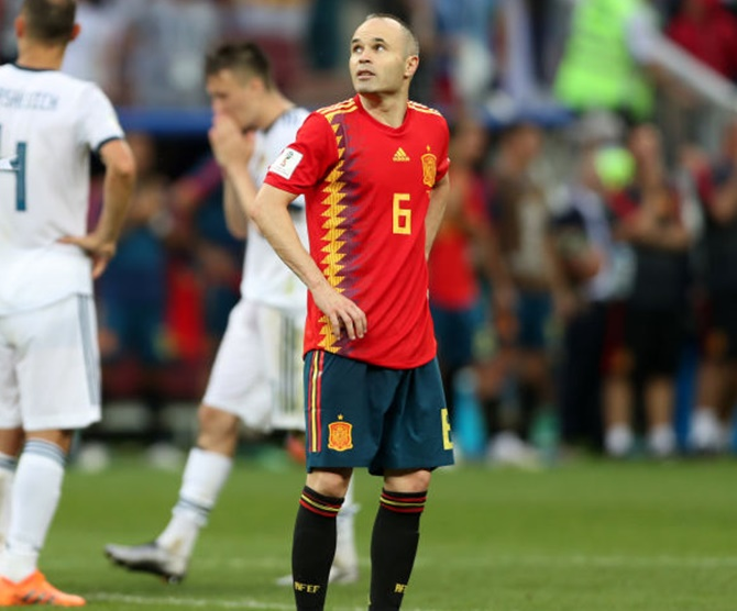 Iniesta retires from international football after World Cup exit