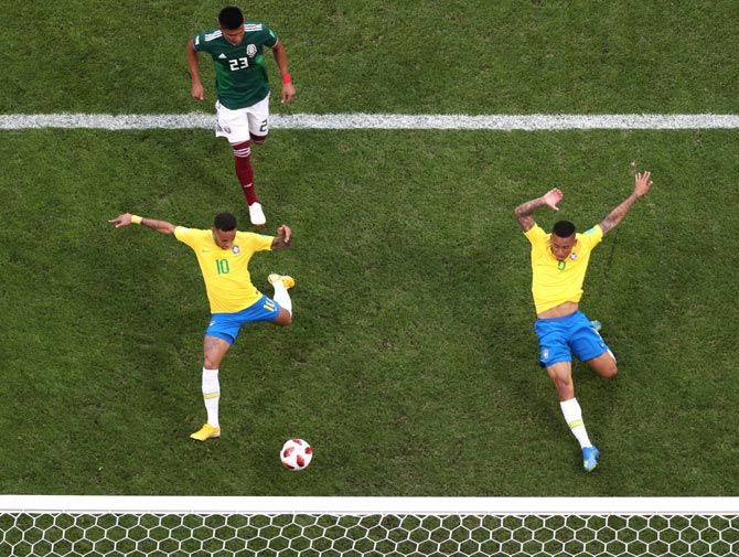 World Cup: Neymar dazzles and disappoints as Brazil reach quarters