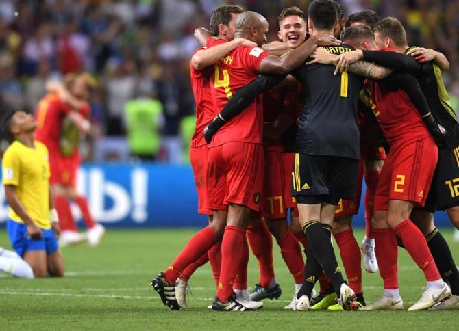 WC PIX: Belgium hold off Brazil fightback to reach semis
