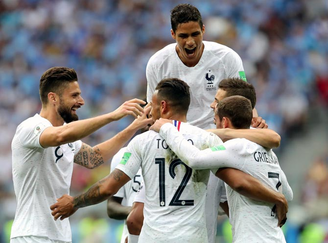 WC PHOTOS: Griezmann inspires France past punchless Uruguay