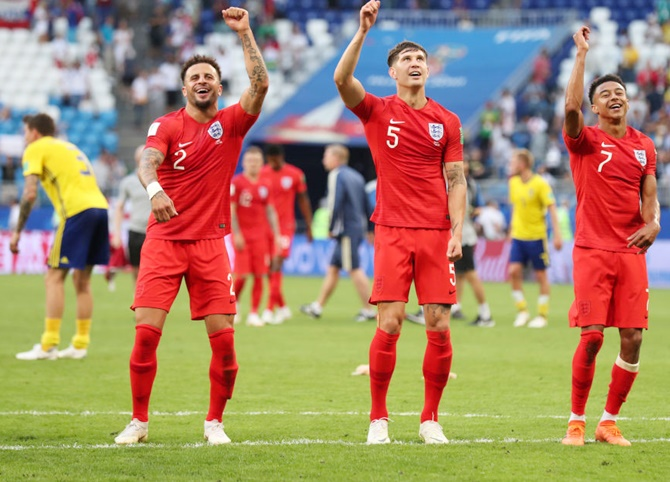 WC Photos: England move into semis after 2-0 win over Sweden