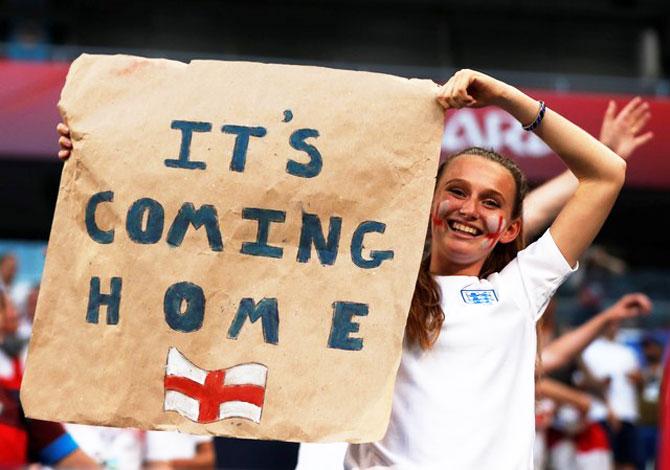 Optimistic media celebrate England's World Cup semi-final spot