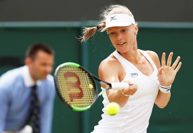 The 27-year-old World No 4, Kiki Bertens got an early break of serve to clinch the opening set and put pressure on the 19-year-old Rybakina, who entered the match without having dropped a set this week